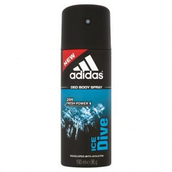 Adidas For Men Ice Dive Body Spray 150Ml