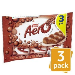Aero Milk Chocolate 3 Pack 120G