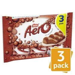 Aero Milk Chocolate 3 Pack 120G
