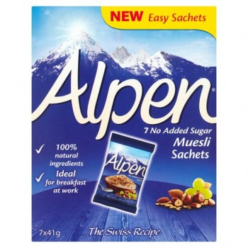 Alpen Muesli No Added Sugar Sachet 287G
