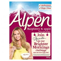 Alpen Raspberry And Apple 560G