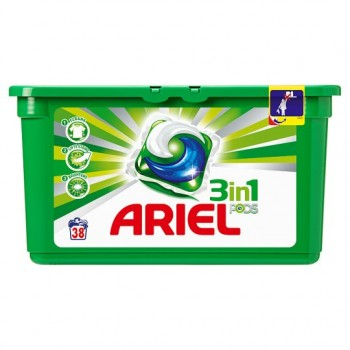 Ariel 3 In 1 Laundry Pods 38 Washes