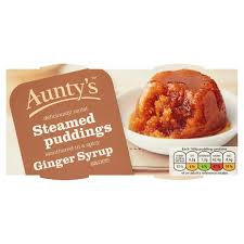 Auntys Ginger Syrup Steamed Puddings 2X100g