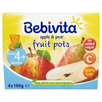 Bebivita Apple And Pear Fruit Pots 4X100g