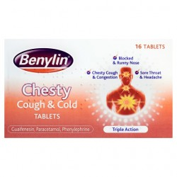 Benylin Chesty Cough Tabs 16S