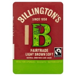 Billingtons Fair Trade Light Brown Sugar 500G