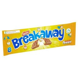 Breakaway Milk Chocolate Biscuit 8 Pack 152.8G
