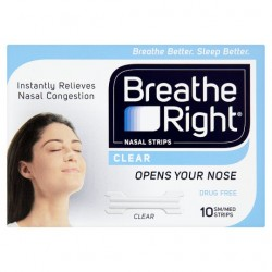 Breathe Right Nasal Strips Clear 10 Strips