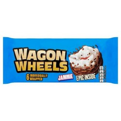 Burtons Wagon Wheels Jammie Biscuit 6 Pack 229G