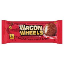 Burtons Wagon Wheels Original Biscuit 6 Pack 220G