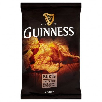 Burts Guinness Hand Cooked Potato Chips 150G