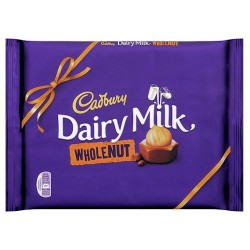 Cadbury Dairy Milk Whole Nut Chocolate Bar 360G