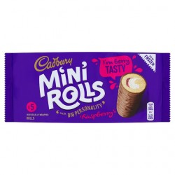 Cadbury Raspberry Mini Roll 5 Pack