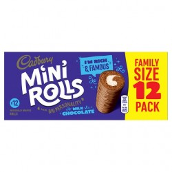 Cadburys Chocolate Mini Rolls 12 Pack