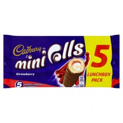 Cadburys Jam Mini Rolls 5 Pack