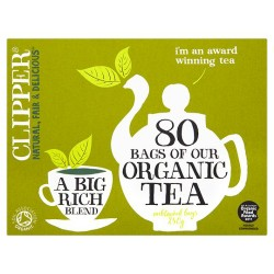 Clipper Organic 80 Teabags 250G