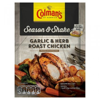 Colman's Season & Shake Garlic And Herb Roast Chicken Southern Mix 32G