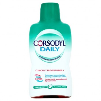 Corsodyl Defence Fresh Mint Alcohol Free 500Ml