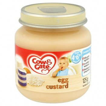 Cow And Gate 4 Month+ Egg Custard 125G