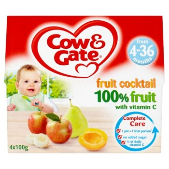 Cow And Gate 4 Month+ Fruit Cocktail Pots 4 X 100G