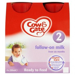 Cow And Gate Follow On Milk 4 X 200Ml