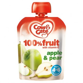 Cow And Gate Fruit Pouch Apple And Pear 80G