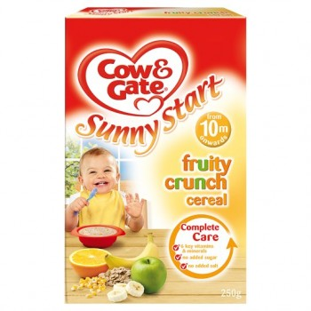Cow & Gate 10 Mths+ Fruity Crunch Cereal 250G