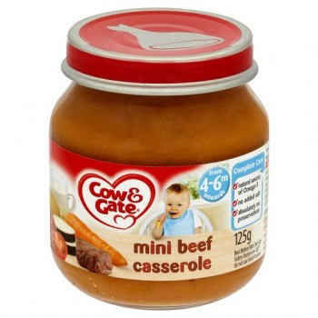 Cow & Gate 4 Mth+ Mini Beef Casserole 125G