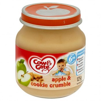 Cow & Gate 6 Mth+ Apple And Cookie Crumble 125G
