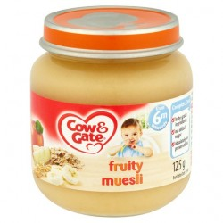 Cow & Gate 6 Mth+ Fruity Muesli 125G