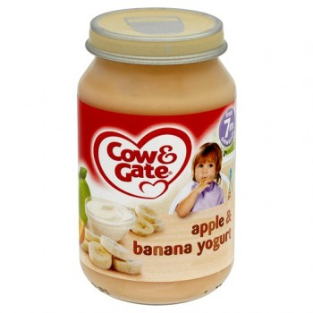Cow & Gate 7 Mth+ Apple And Banana Yoghurt 200G