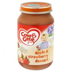 Cow & Gate 7 Mth+ Apple And Strawberry Dessert 200G