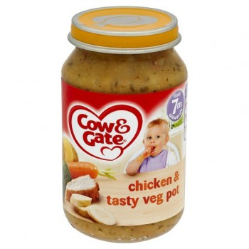 Cow & Gate 7 Mth+ Chicken And Tasty Vegetable Pot 200G