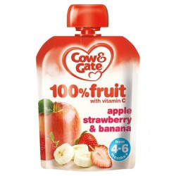 Cow & Gate Fruit Pouch Apple And Strawberry 80G