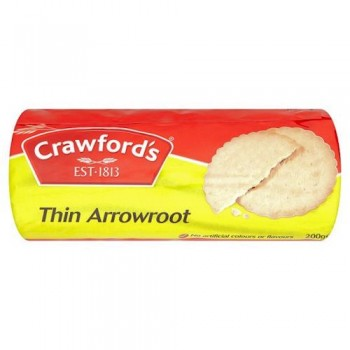 Crawford Thin Arrowroot Biscuits 200G