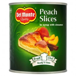 Del Monte Chef Peach Slices With Cinnamon In Syrup 825G
