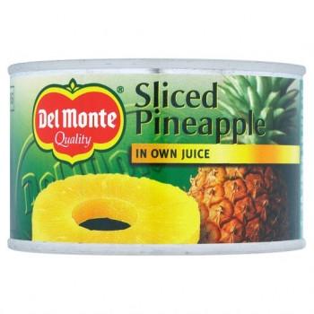 Del Monte Sliced Pineapple In Juice 220G