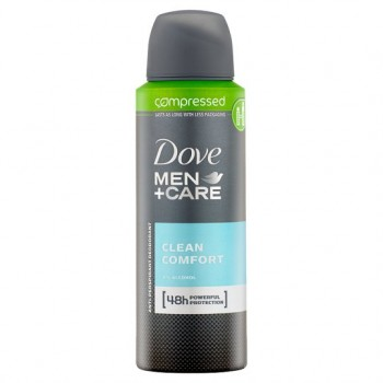 Dove Men+Care Cleancomfort Antiperspirant Deodorant Compressed 125Ml