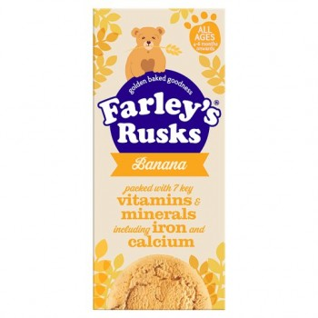 Farleys Rusks 4 Month Reduced Sugar Banana 9 150G