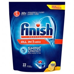 Finish All In 1 Lemon 22 Dishwasher Tablets