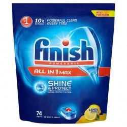 Finish All In 1 Lemon 74 Dishwasher Tablets