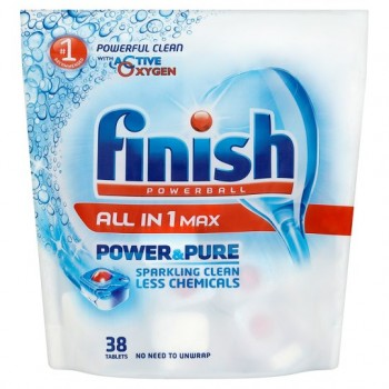 Finish All In 1 Power And Pure 38 Dishwasher Tablets