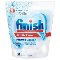 Finish All In One Power And Pure Original 51S Dishwasher Tabs