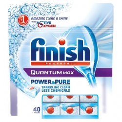 Finish Quantum Power And Pure 40 Dishwasher Tablets