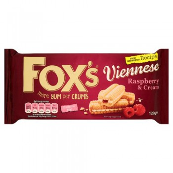 Fox's Raspberry & Cream Viennese Melts 120G