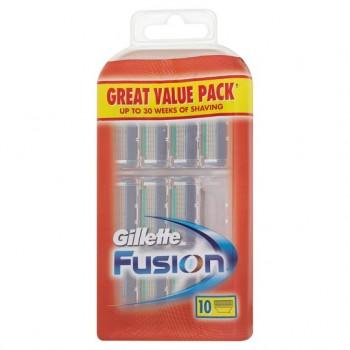 Gillette Fusion Razor Blades 10 Pack