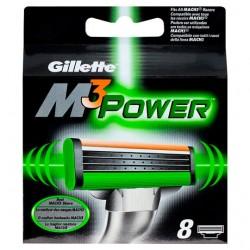Gillette Mach 3 Sensitive Power Razor Blades 8 Pack