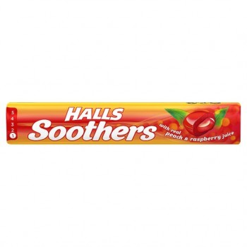 Halls Soothers Peach And Raspberry 10'S