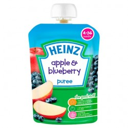 Heinz Fruit Pouch Apple And Blueberry 100G