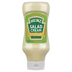 Heinz Light Salad Cream Top Down 600G